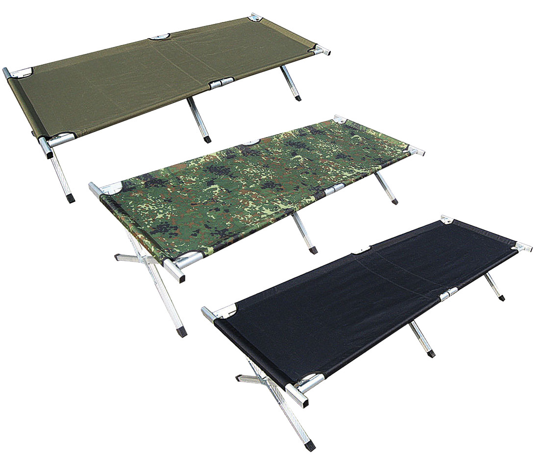 cot army bett collapsible camping bed alu bag 190cm outdoor ebay. Black Bedroom Furniture Sets. Home Design Ideas