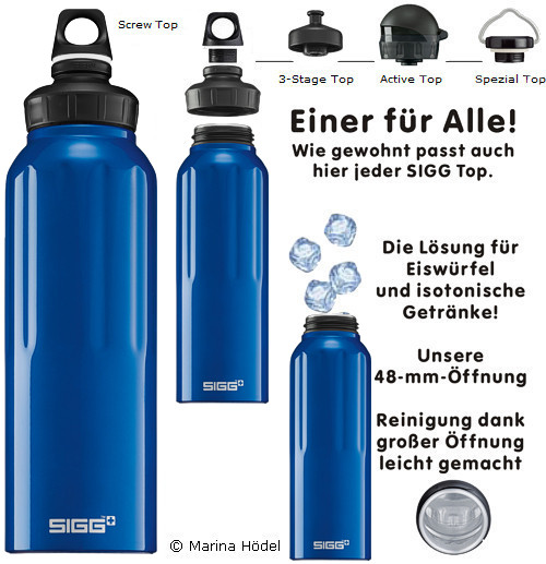 sigg flasche 1 5 l trinkflasche travel blau wide mouth ebay. Black Bedroom Furniture Sets. Home Design Ideas