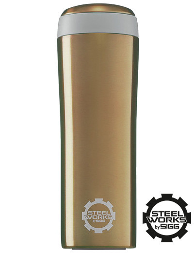 sigg thermo becher 0 25 l coffee to go steelworks gold. Black Bedroom Furniture Sets. Home Design Ideas