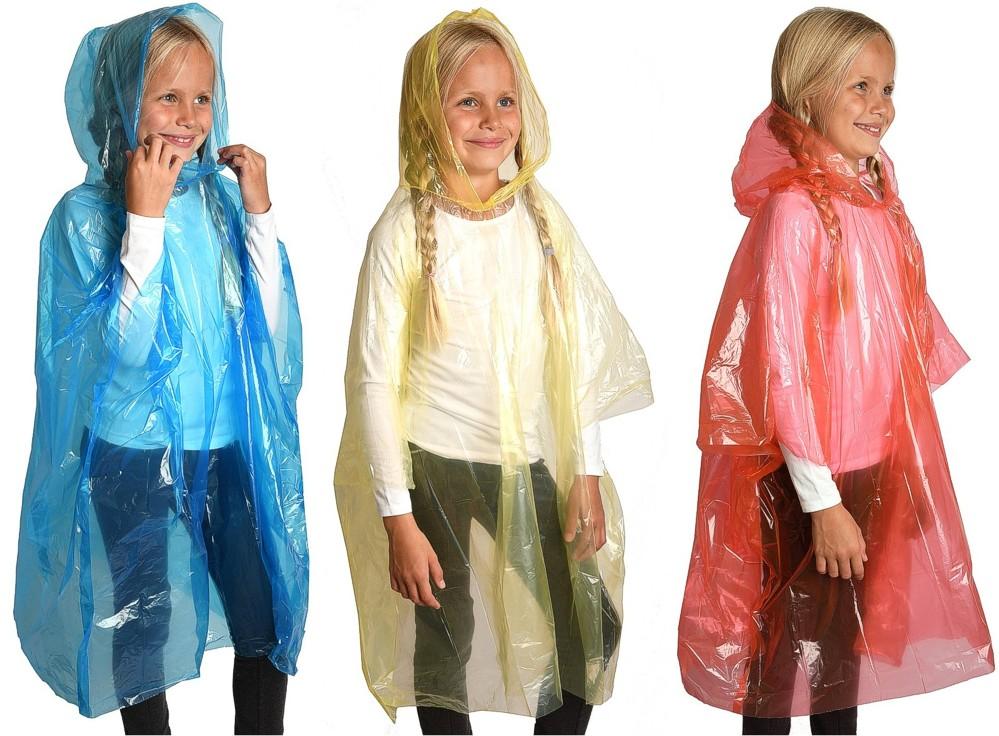 Regenmantel Regenjacke Schutz Cape Poncho transparent Kapuze Knopf Rain