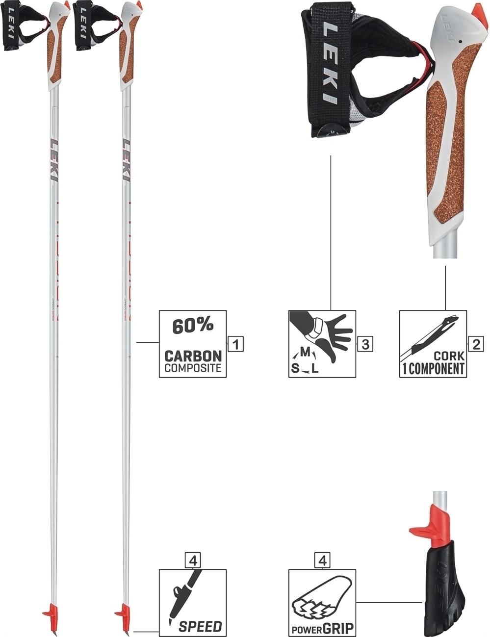 Leki Nordic Walking Stock Stöcke PASSION mit Gummipuffer 6492525 NEU