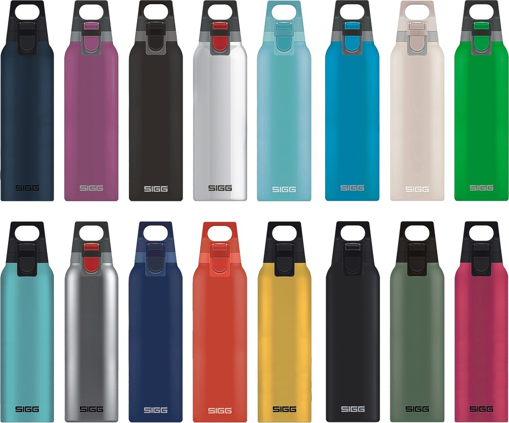 Sigg Hot /& Cold Accent Aqua Vakuum-Isolierte Thermo-Flasche Aus Edelstahl