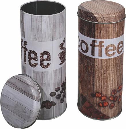2 x kaffeepaddose kaffeepads pad dosen set vintage vorratsdose metall grau braun ebay. Black Bedroom Furniture Sets. Home Design Ideas