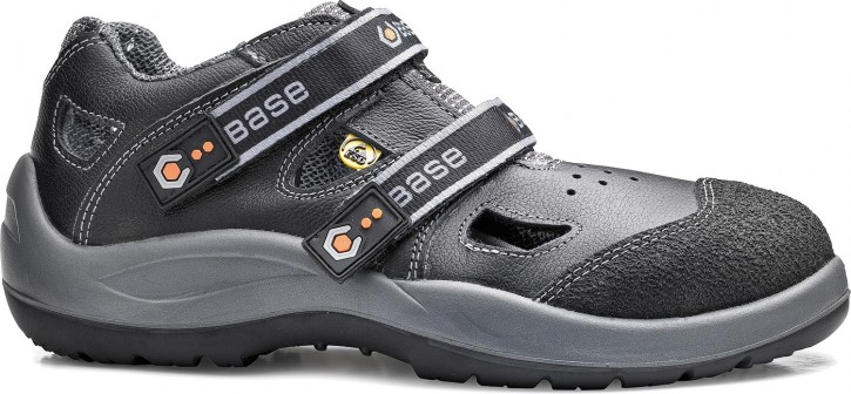 Sicherheitsschuhe S1P Sandale Arbeitsschuhe BASE »DOUBLE BLACK«