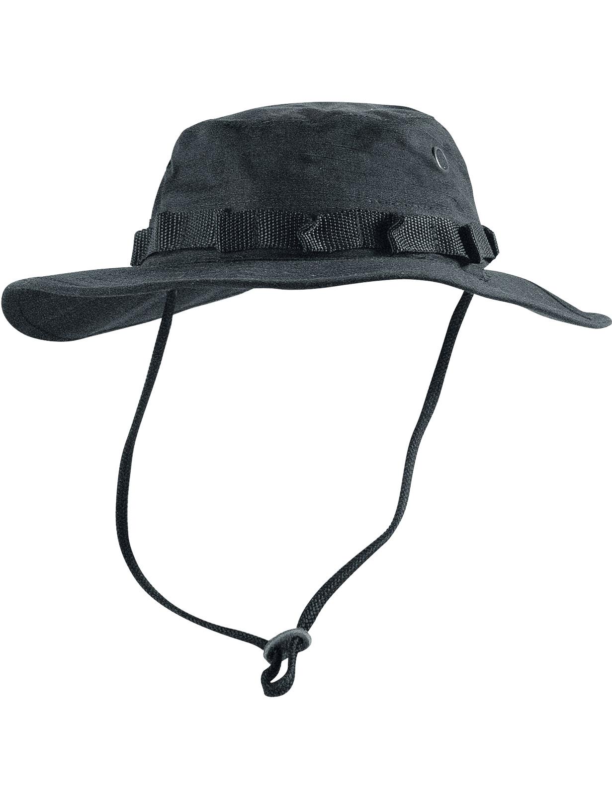 Boonie Hat Buschut GI Army Tropen Hut Schwarz