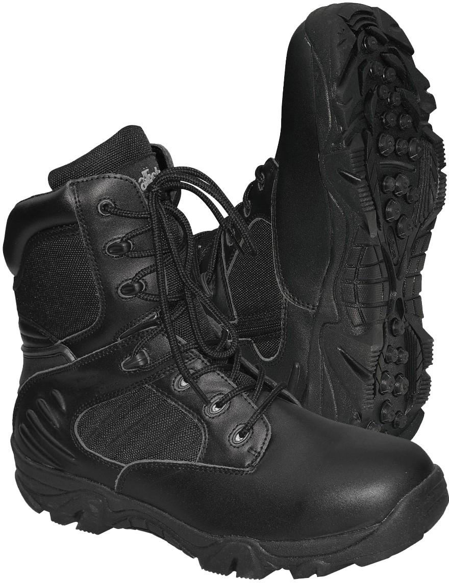 Army Kampfstiefel mit Reißverschluß Springerstiefel »Delta-Force« Schwarz