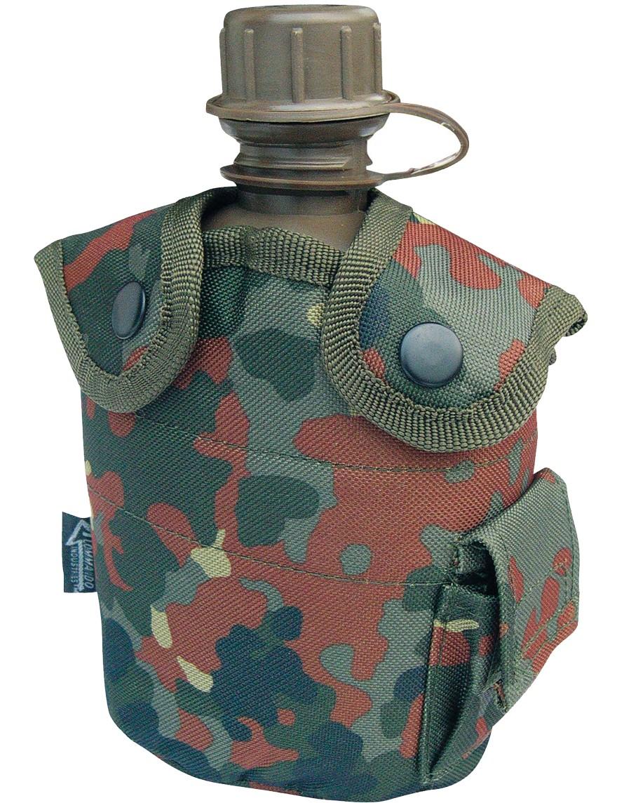 Feldflasche Outdoor Army Trink Flasche ca. 0.8 L Camouflage Fleck Tarn