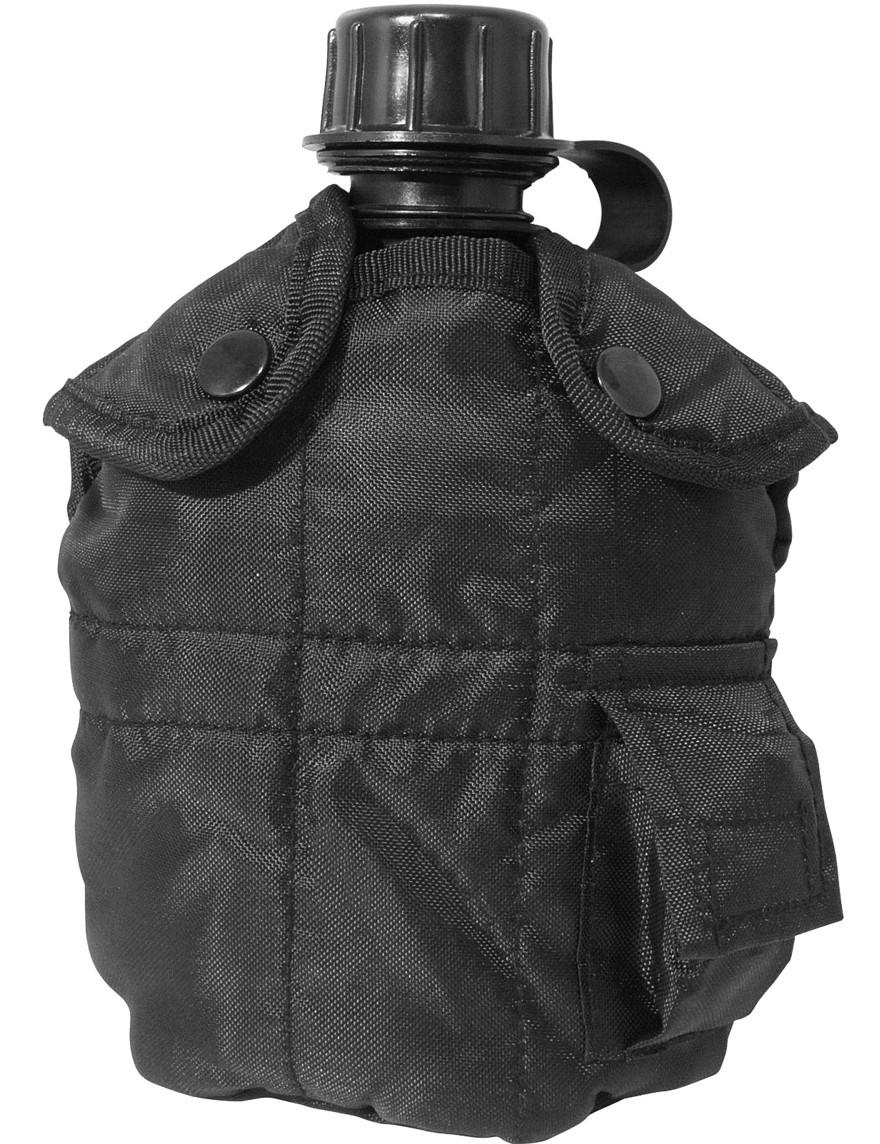 Feldflasche Outdoor Army Trink Flasche ca. 0.8 L Schwarz