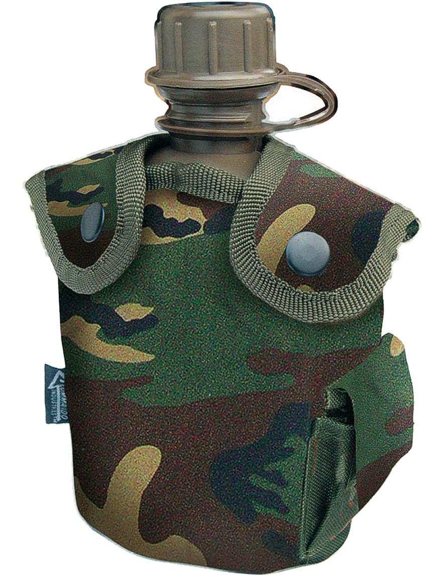 Feldflasche Outdoor Army Trink Flasche ca. 0.8 L Camouflage Woodland