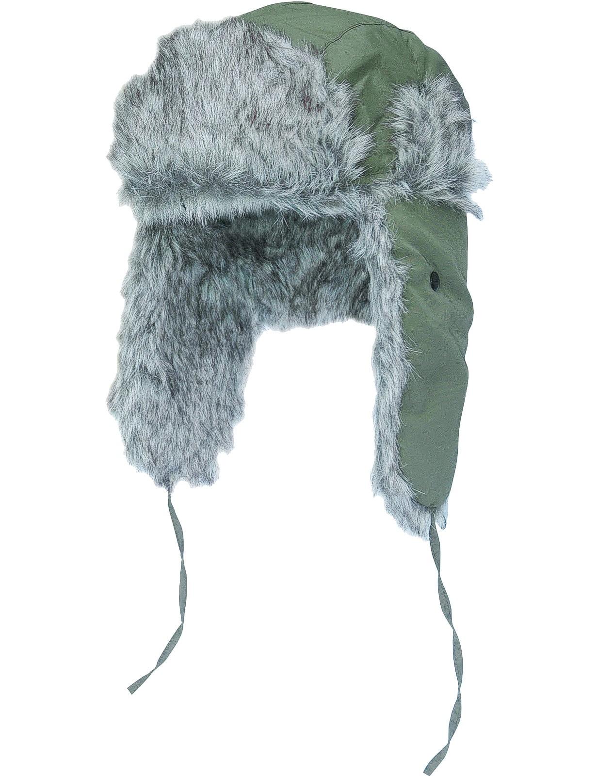 Fliegermütze Russian Style Oliv Wolfgrau