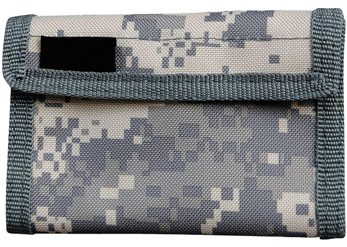 Geldbeutel Geldbörse Klettverschluss Nylon Army Camouflage Acu Tarn