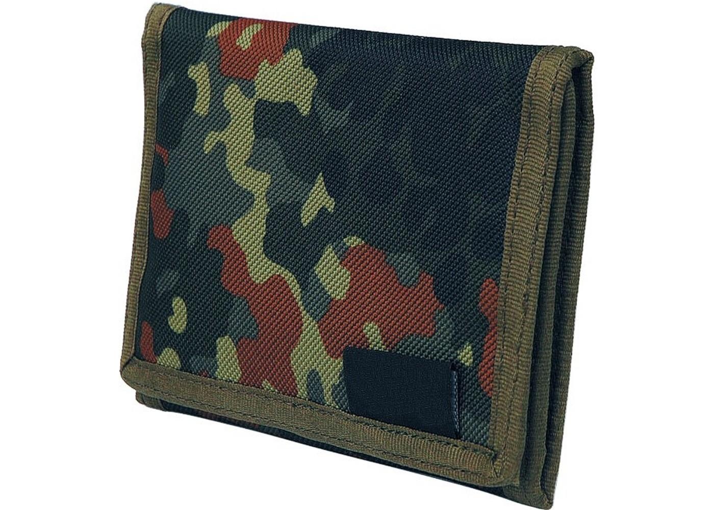 Geldbeutel Geldbörse Klettverschluss Nylon Camouflage Fleck Tarn