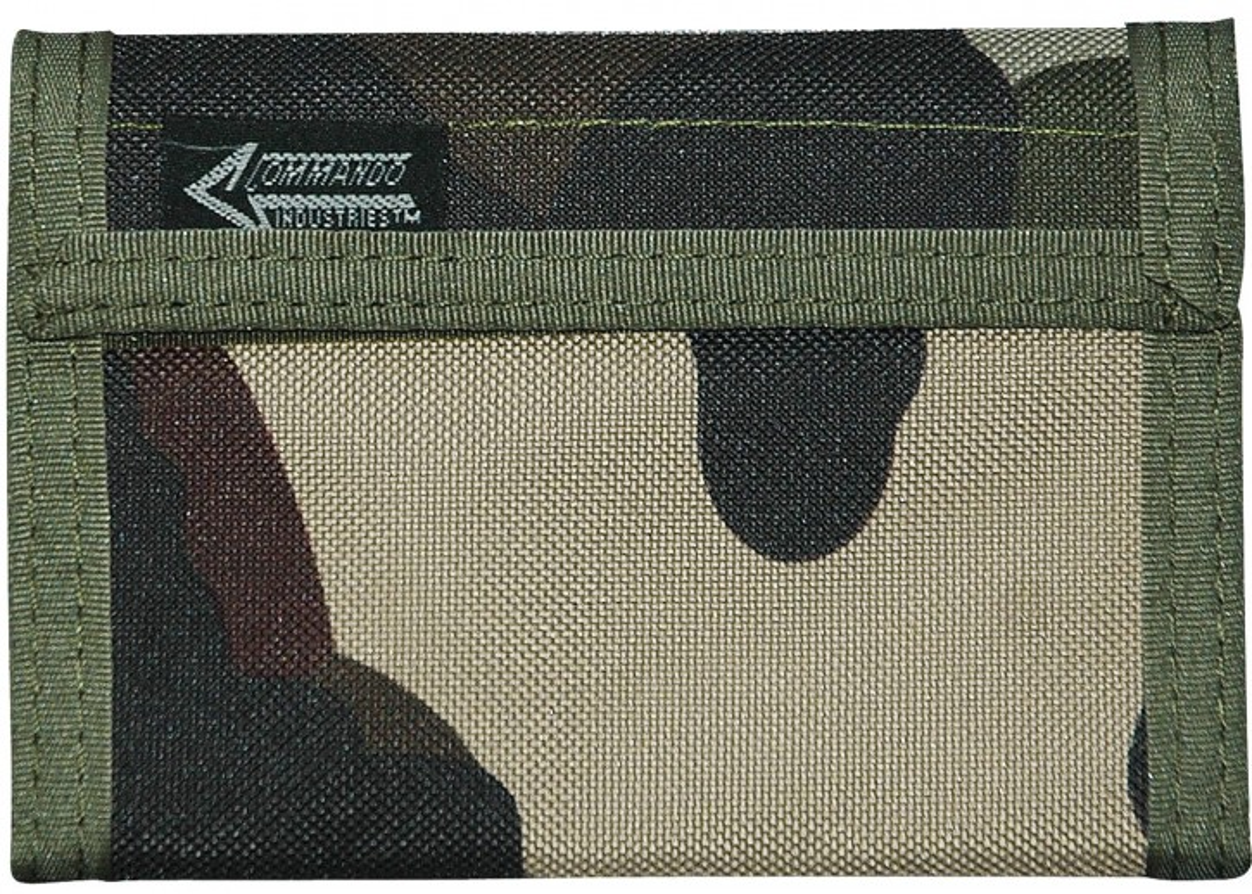 Geldbeutel Geldbörse Klettverschluss Nylon Camouflage Woodland