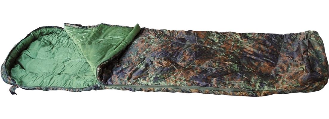 Mumien-Schlafsack Flecktarn