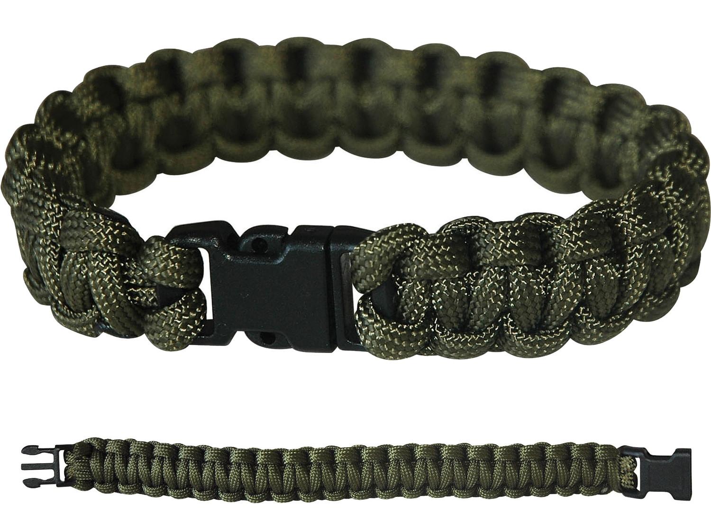 PARACORD Survival Militär Armband Kunststoff-Schließe Grün Oliv
