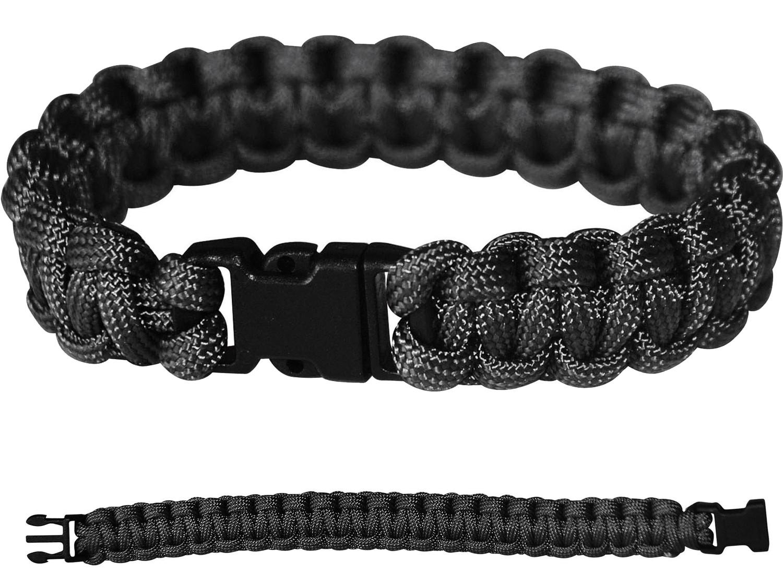 PARACORD Survival Militär Armband Kunststoff-Schließe Schwarz
