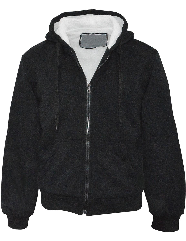 Sweater Sweatjacke mit Sherpa-Futter und Kapuze Unisex Schwarz