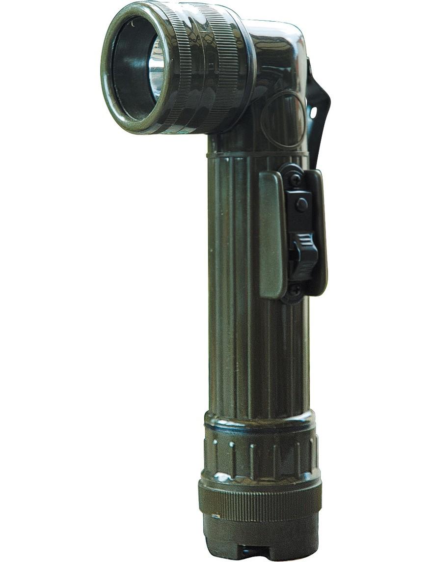 Winkel-Taschenlampe Oliv