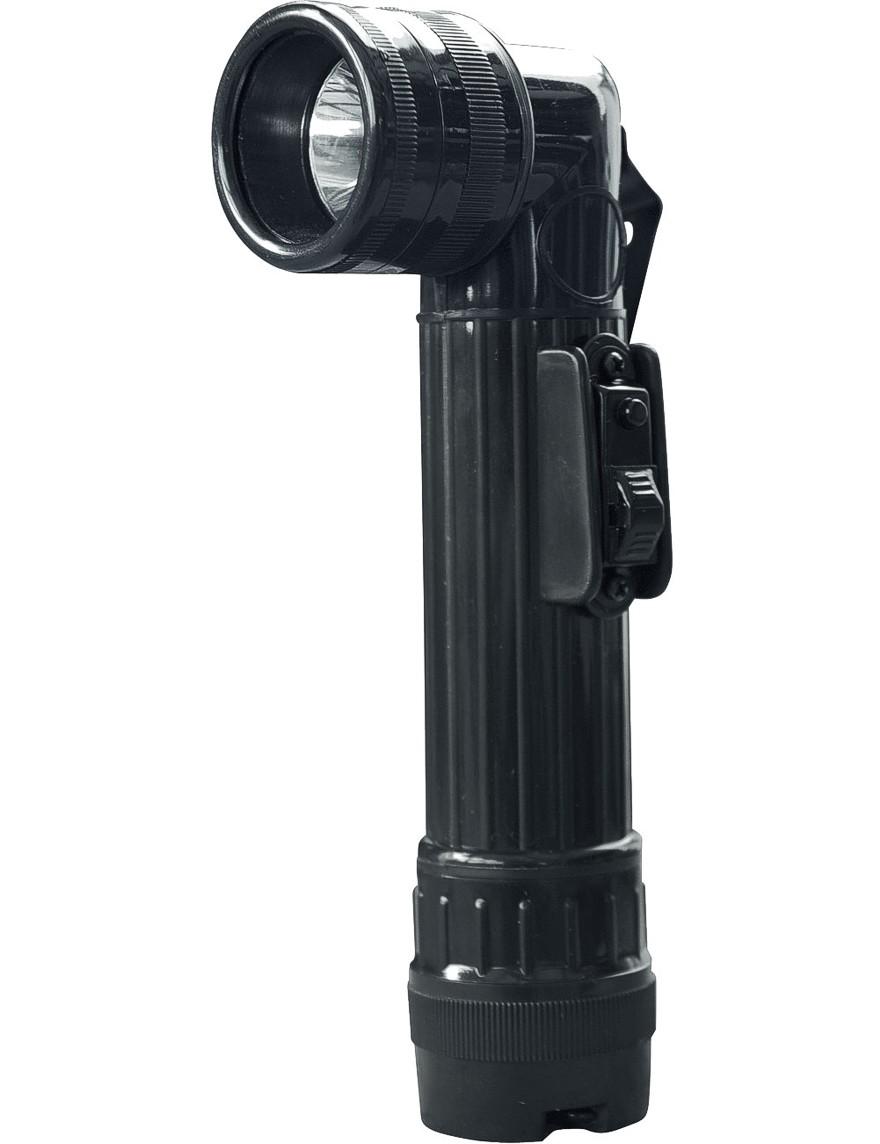 Winkel-Taschenlampe Schwarz