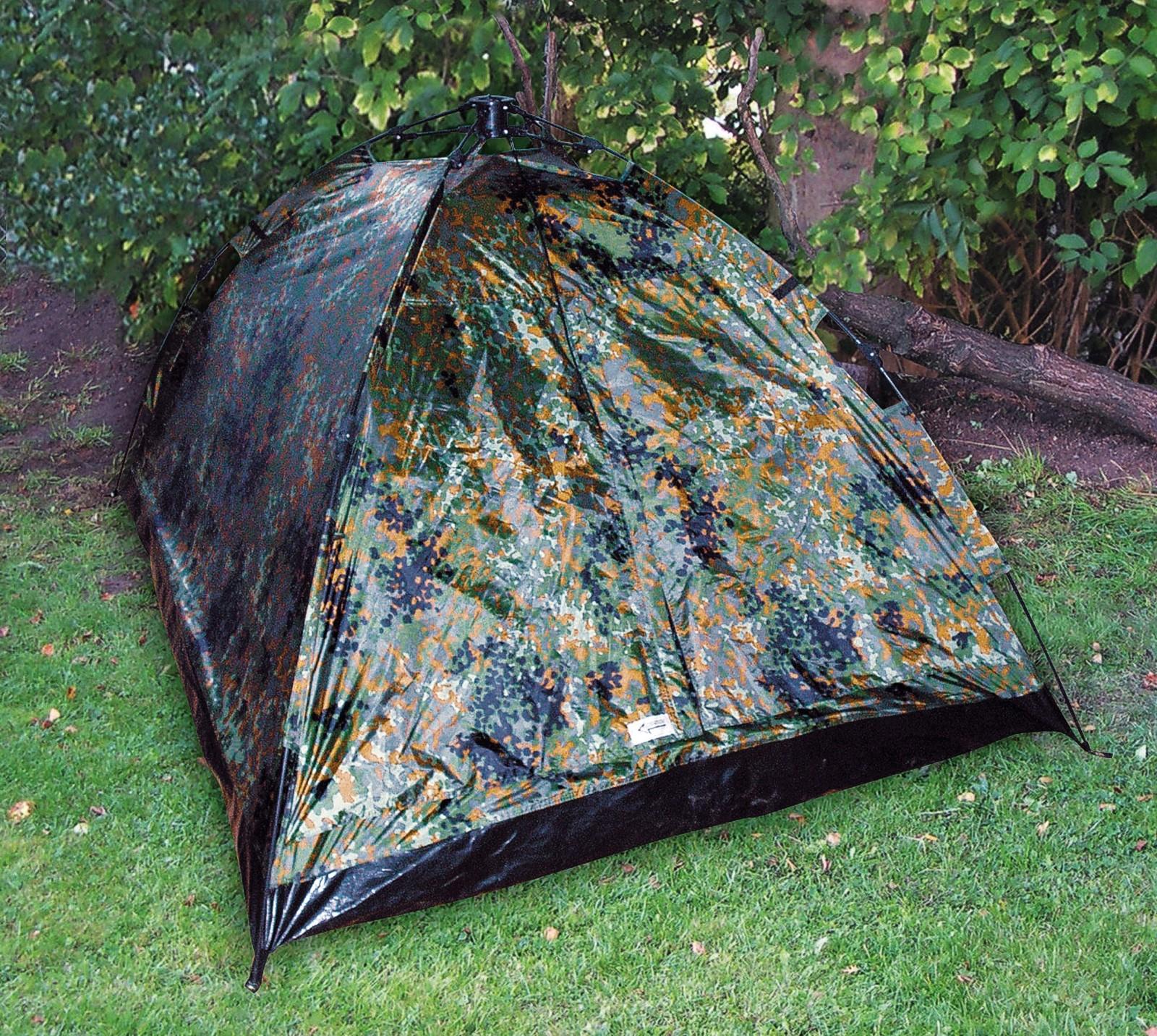 2 Personen Zelt »EasyTec« mit Boden und Moskitoschutz BW-Flecktarn
