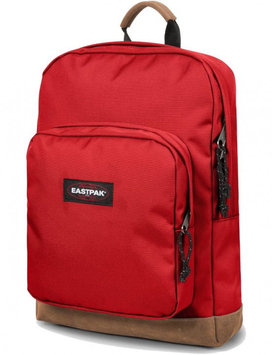 Eastpak Rucksack »Houston« mit Laptopfach Lederboden Apple Pick Red Rot