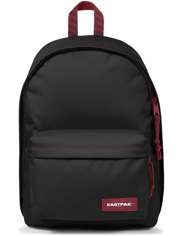 Eastpak Rucksack »Out of Office« mit Laptopfach Blakout Stripe Red Schwarz