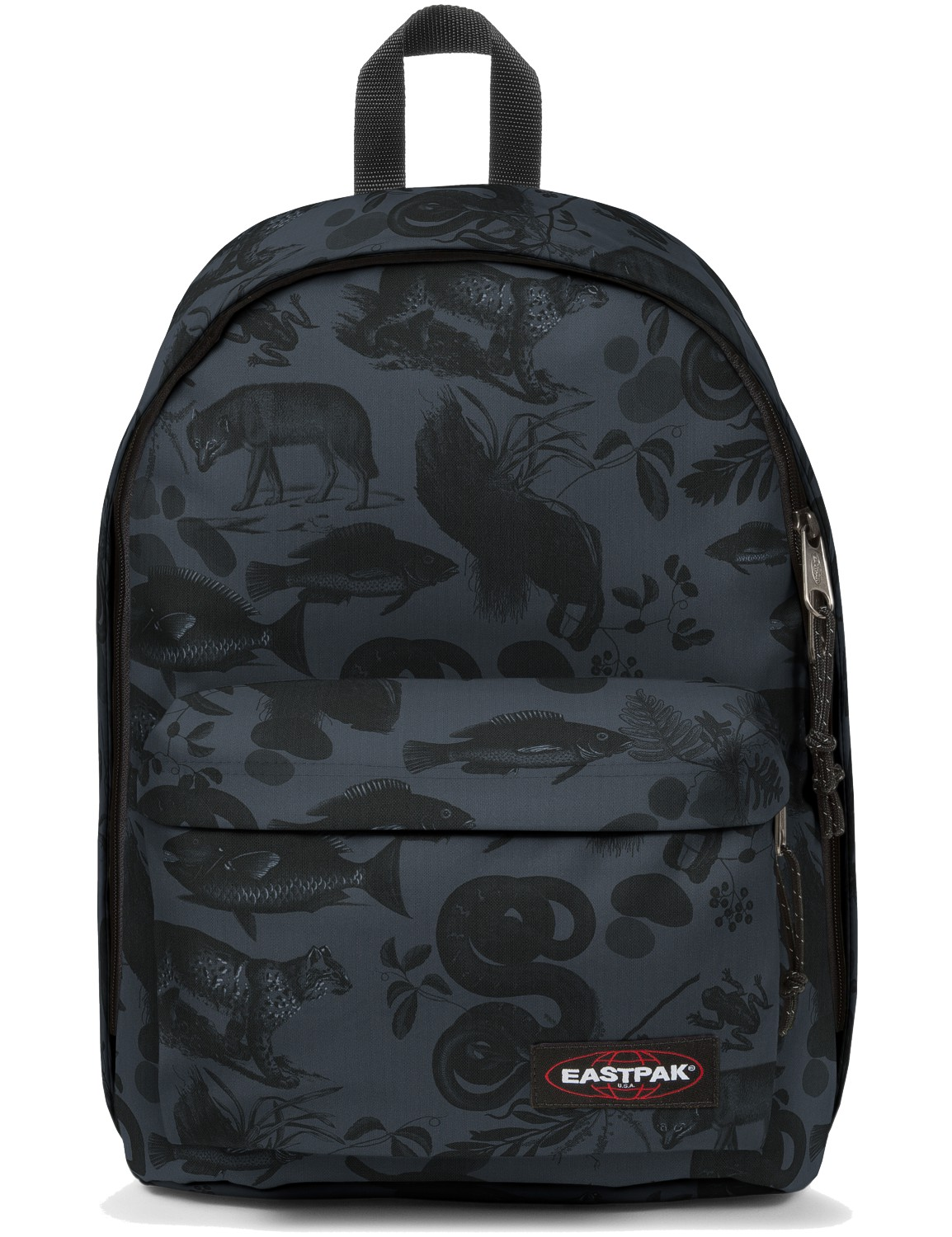 Eastpak Rucksack »Out of Office« mit Laptopfach Bozoo Grey Dschungel Print