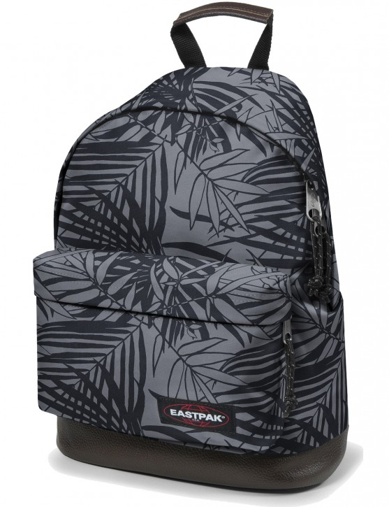 Eastpak Rucksack »Wyoming« mit Lederboden Leaves Black