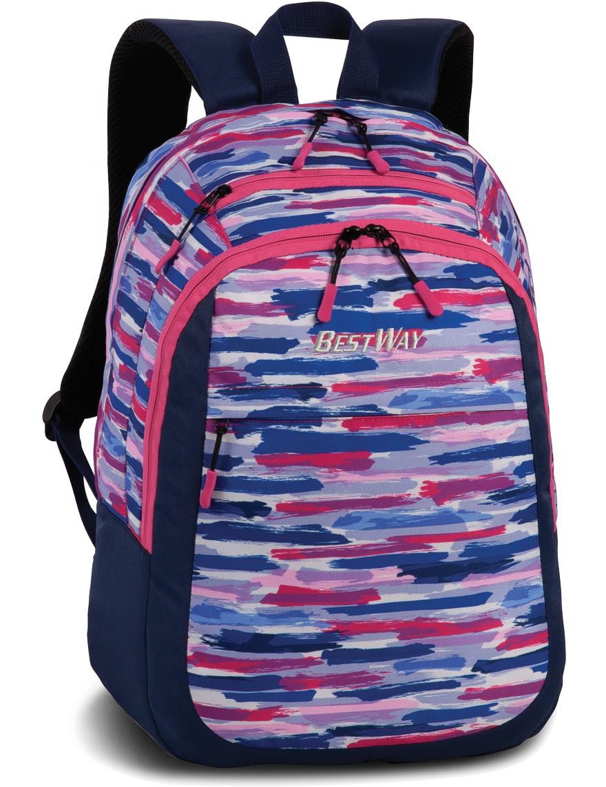 Rucksack Schulrucksack Freizeit Bestway »Evolution Easy« Marineblau-Pink
