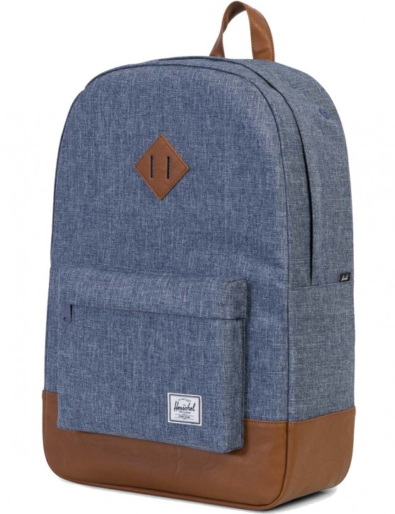 Herschel Rucksack »Heritage« Dark Chambray Crosshatch Tan