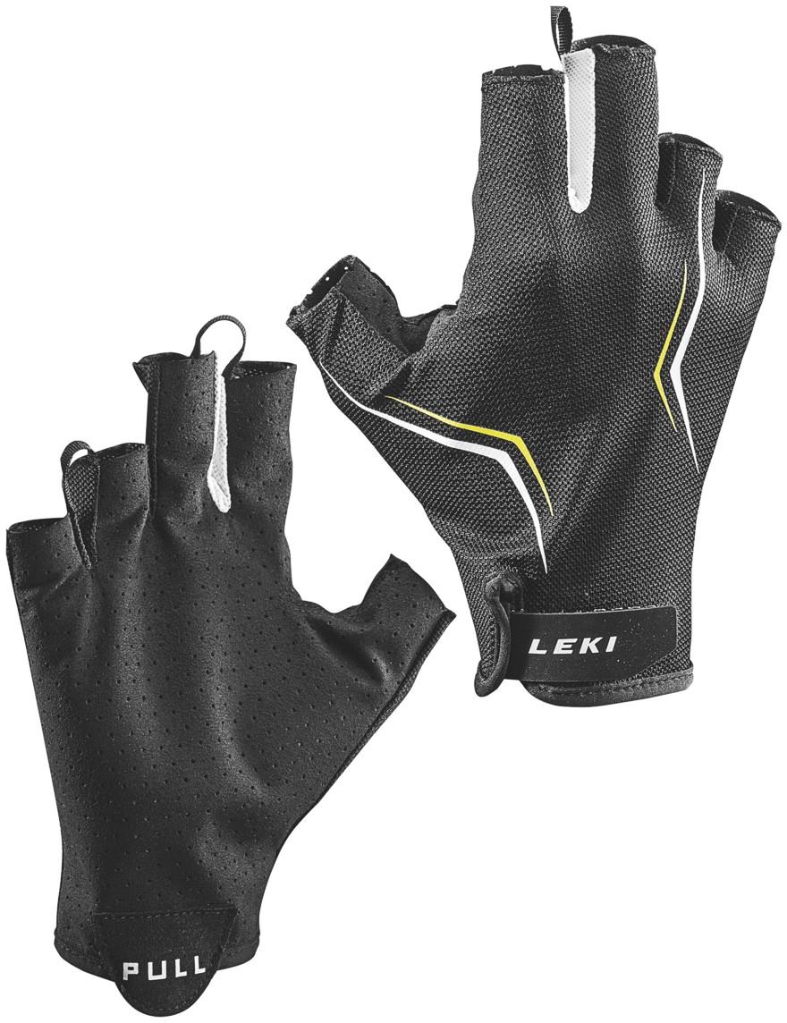 LEKI Handschuhe »Multi Lite Short« Schwarz-Weiß-Gelb
