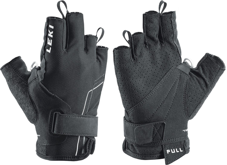 LEKI Handschuhe »Nordic Breeze Shark Short« Schwarz Weiß