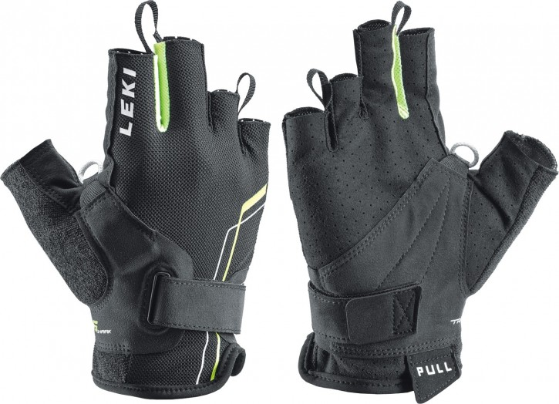 LEKI Handschuhe »Nordic Breeze Shark Short« Schwarz Gelb Weiß