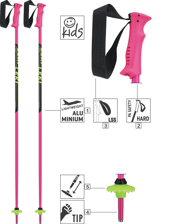 LEKI Skistöcke »Racing Kids« Junior ALU Pink