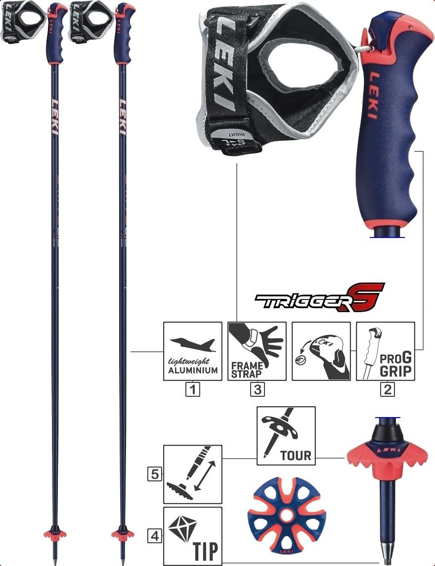 LEKI Skistöcke »Spitfire S« Trigger S ALU Blau Metallic