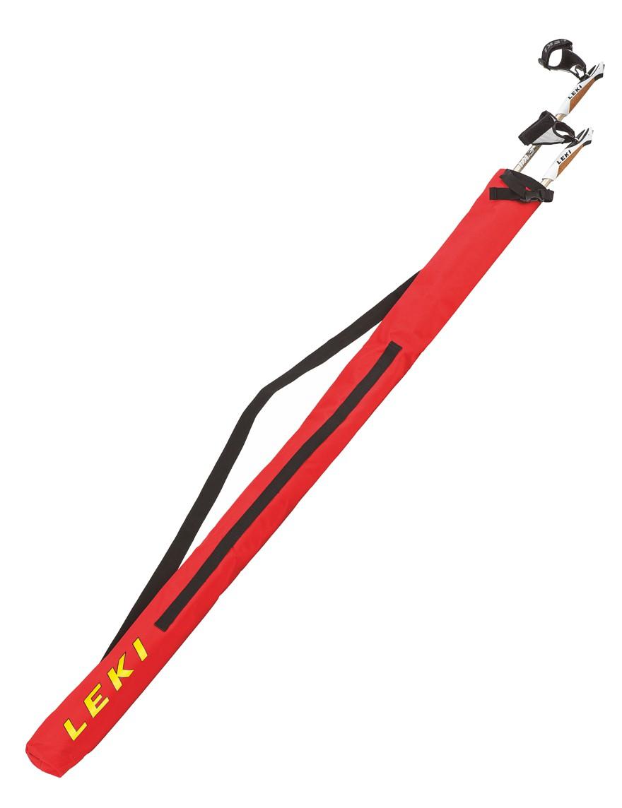 LEKI Nordic Walking Stocktasche für 1 Paar Stöcke Rot