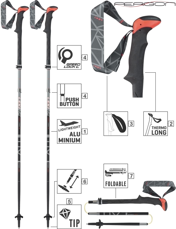 LEKI Trekkingstöcke Faltstöcke Wanderstöcke »Micro Vario TA System«