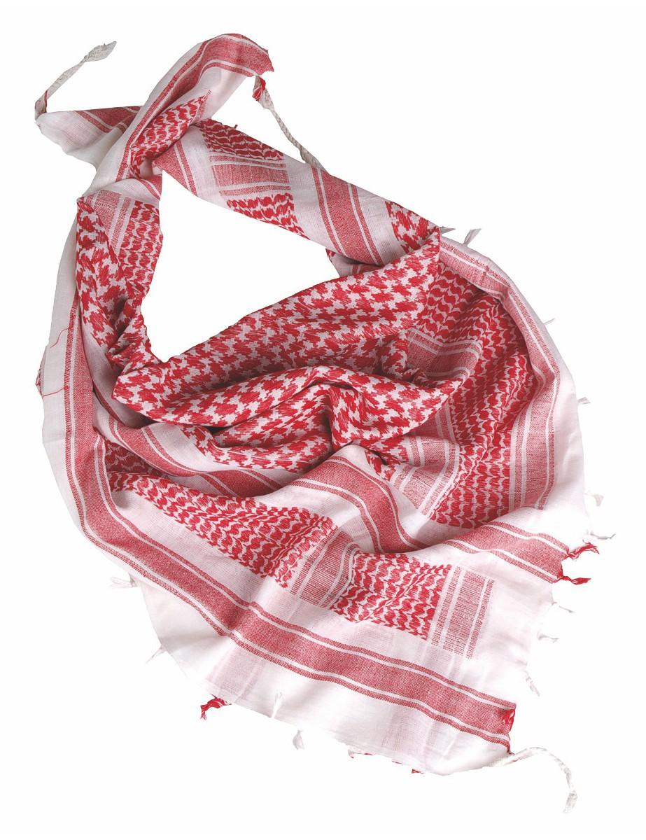 Shemagh Palästinenser Tuch Kopftuch Schal Halstuch Weiss Rot