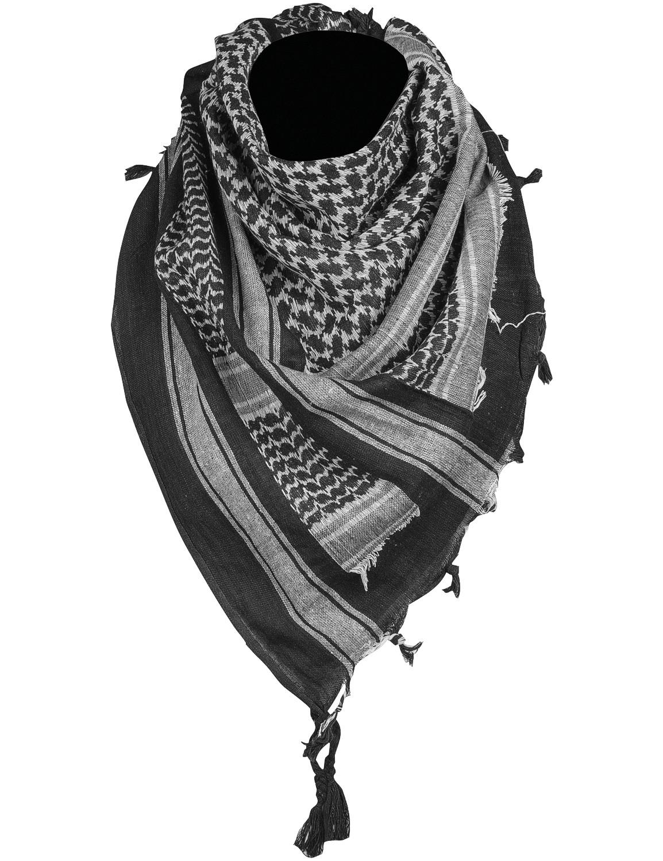 Shemagh Palästinenser Tuch Kopftuch Schal Halstuch Schwarz Weiss