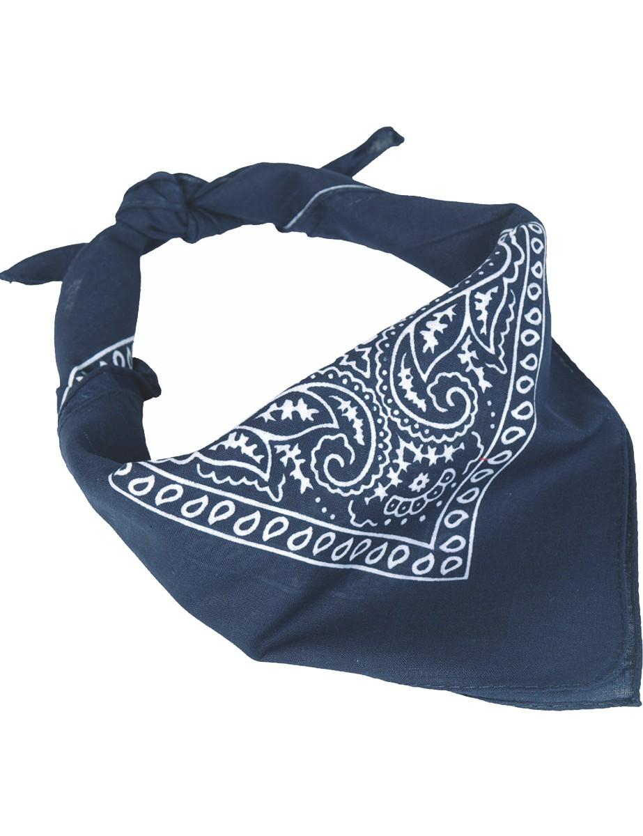 Halstuch Westernhalstuch Bandana Baumwolltuch Kopftuch Schal Blau