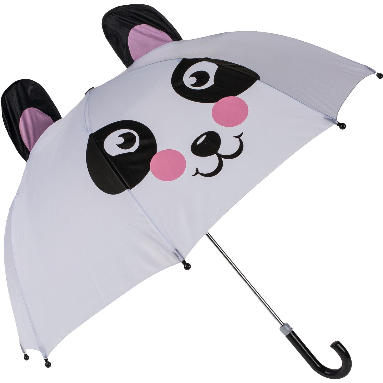 Kinder-Regenschirm »Panda« I Weiß Schwarz Rosa