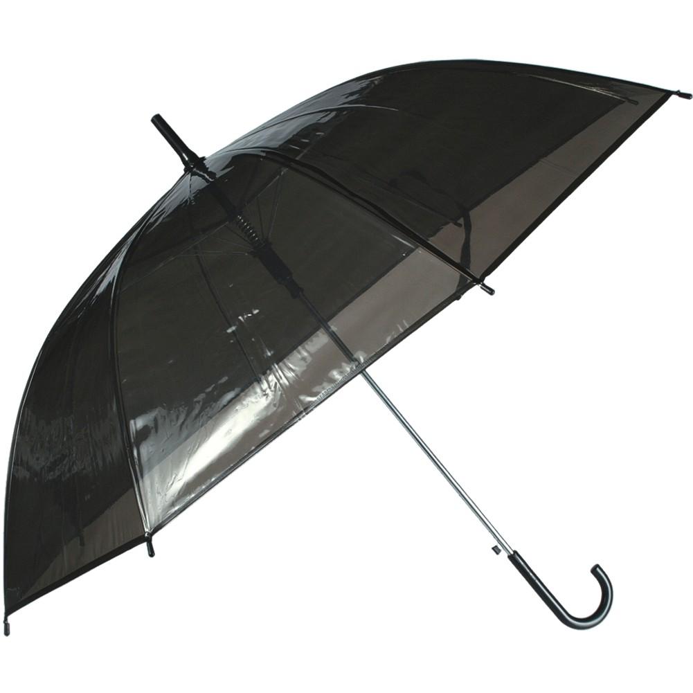 Regenschirm »Transparent II« Ø ca.88 cm Schwarz