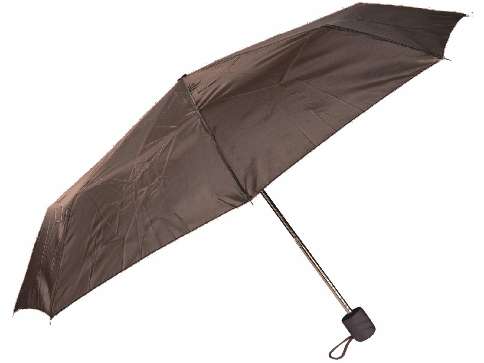 Taschen-Regenschirm Braun