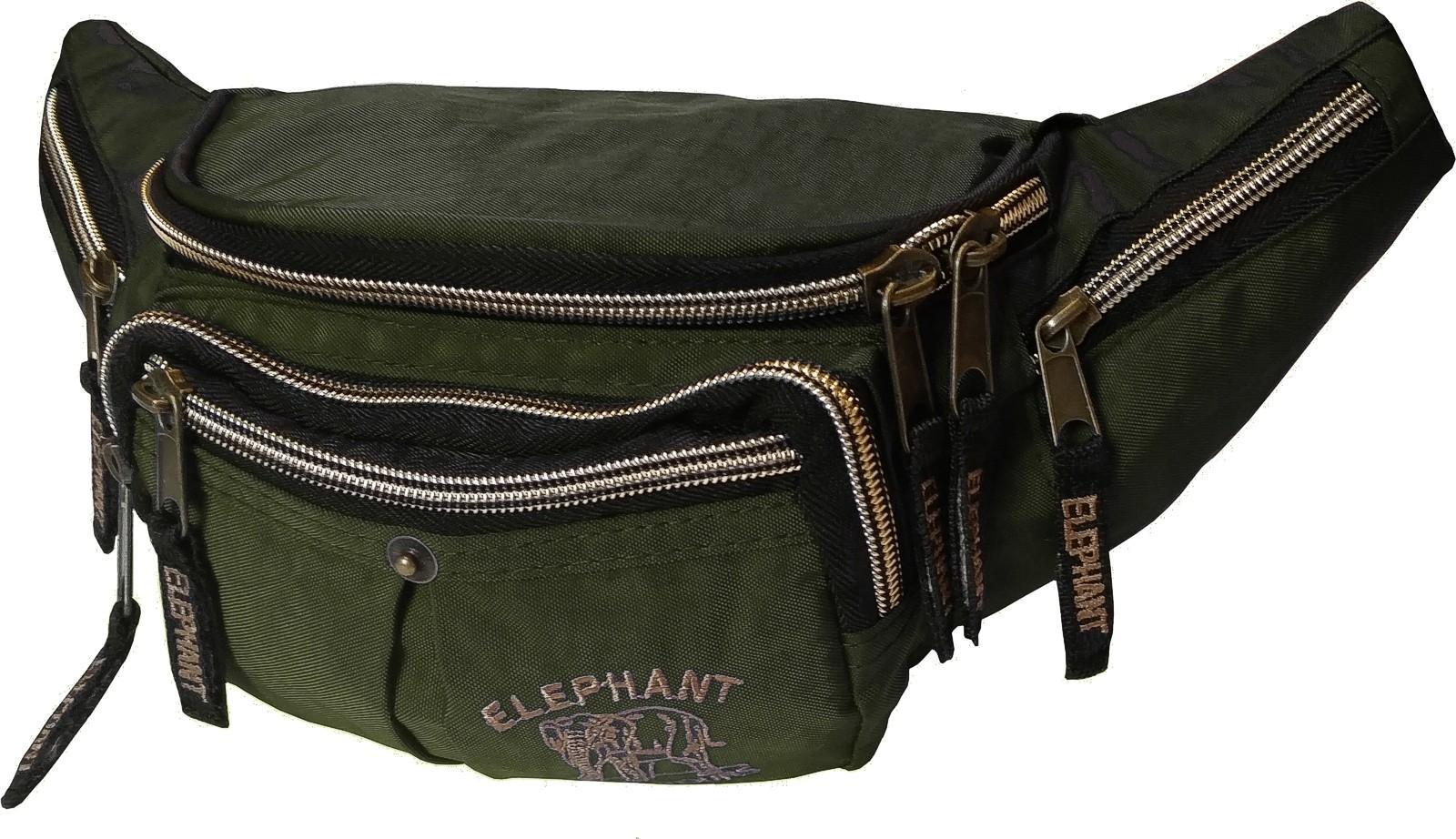 Bauchtasche Gürteltasche »Elephant World Tours« Oliv