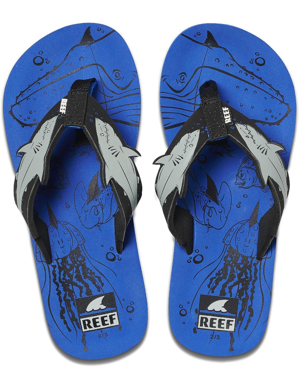 REEF Boys Kinder-Sandalen Sandels »AHI« Blue Shark
