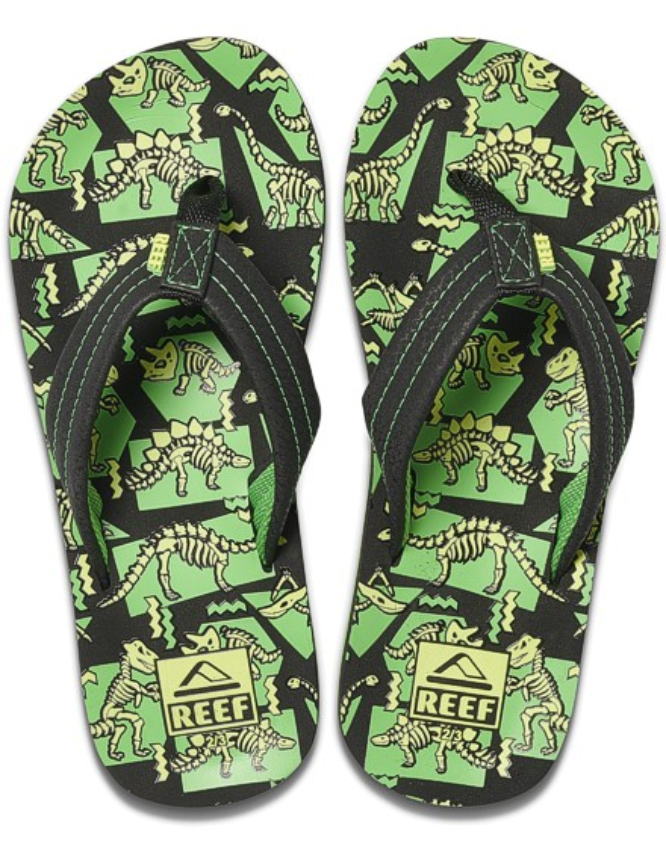REEF Boys Kinder-Sandalen Sandels »AHI« Dinosaurs Glow