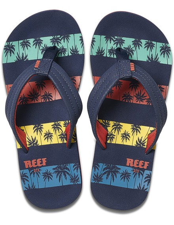 REEF Boys Kinder-Sandalen Sandels »AHI« Nvy Palms Stripe