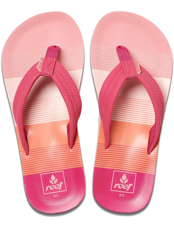 REEF Girls Kinder-Sandalen Sandels »AHI« Pink/Stripes
