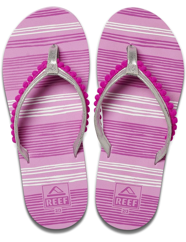 REEF Girls Kinder-Sandalen Sandels »AHI« Pom Pom Orchid