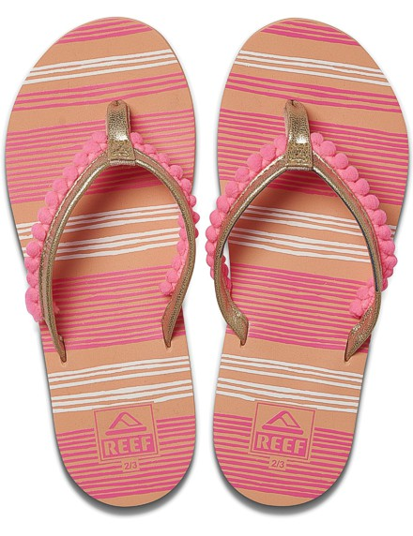 REEF Girls Kinder-Sandalen Sandels »AHI« Pom Pom Pink